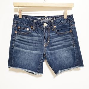 AMERICAN EAGLE Cut Off Dark Blue Denim Jean Shorts